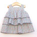 Vestido con volantes para niña de 1 a 7 años (patrones)