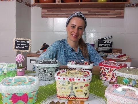 DIY para decorar reciclando envases de helado con tejidos