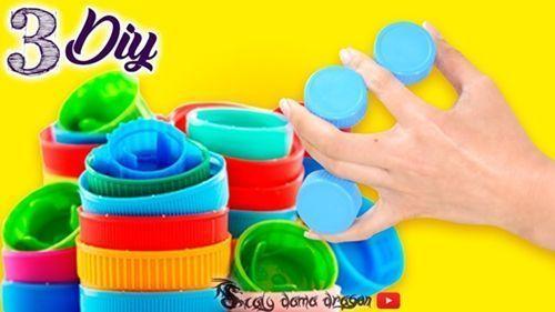Recicla tapones de plástico y usalos para decorar