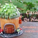 DIY casa de hadas hecha en porcelana fría