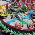 DIY para hacer un mini jardín con lago