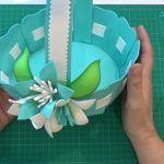 DIY+molde para hacer una cesta en goma eva