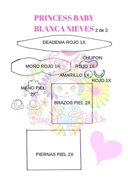 Moldes fofucha Blancanieves bebé (3)