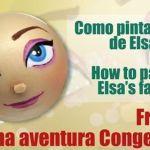DIY cómo pintar cara de Elsa de Frozen en fofucha