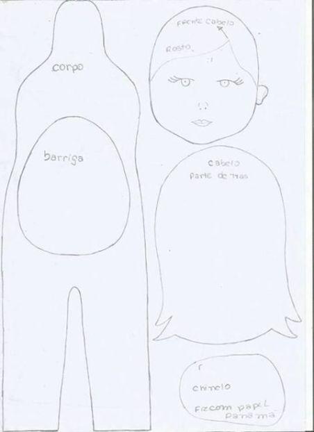 DIY+Moldes para hacer una muñeca embarazada en fieltro(3)