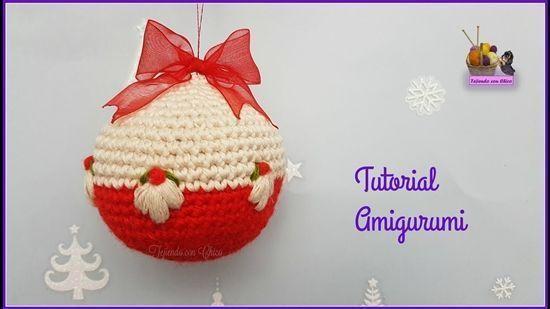 DIY cómo hacer diferentes bolas de navidad a crochet