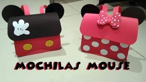 DIY Cómo hacer una mochila de minnie mouse en goma eva