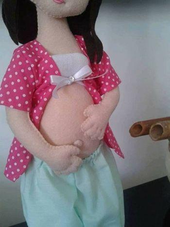 DIY+Moldes para hacer una muñeca embarazada en fieltro(2)
