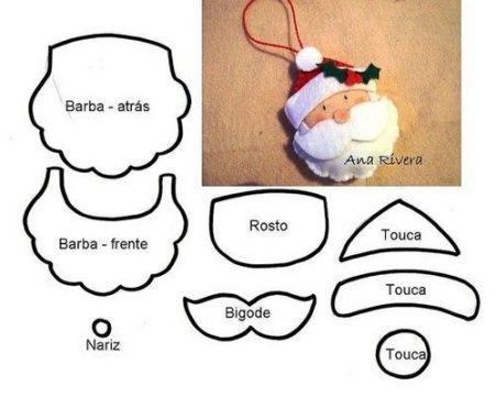 Moldes para hacer adornos navideños de fieltro (3)