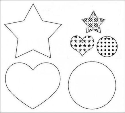 Moldes para hacer adornos navideños de fieltro (6)