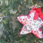 Estrella para navidad de tela