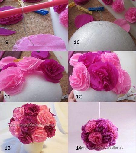 Flores de papel seda (4)
