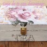 Cómo decorar una caja de té con decoupage