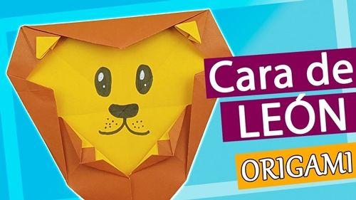 Cómo hacer la cara de un león de origami