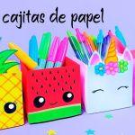 DIY para hacer cajitas de papel-Origami