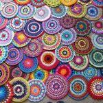 Mandala hecha en crochet con patrón