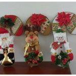 Bastones navideños de fieltro