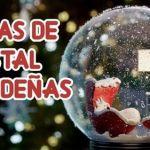Cómo hacer una bola de cristal navideña