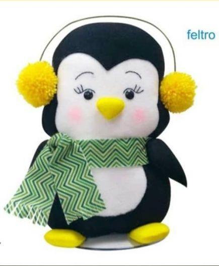 Pingüino de fieltro con moldes gratis