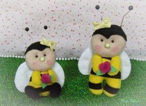 Moldes mariposa,mariquita o abeja en fieltro(3)