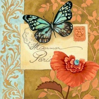 8 Láminas de mariposas para decoupage (5)