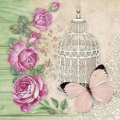 8 Láminas de mariposas para decoupage