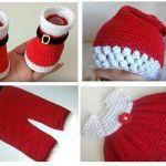 Conjunto de navidad para bebé a crochet