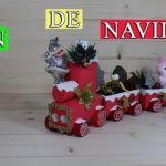 DIY para hacer un tren de navidad reciclando