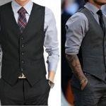 Chaleco de traje para hombre con patrones