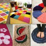 DIY bonitas alfombras reciclando ropa