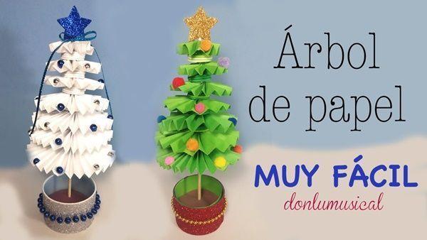 Cómo hacer un árbol de navidad con papel