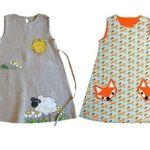 Patrón gratis vestido simple para niña