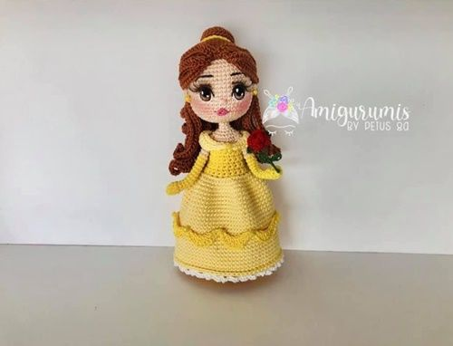DIY Princesa Bella en amigurumi
