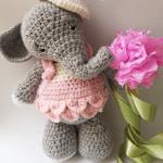 Elefanta Emma amigurumi con patrón gratis