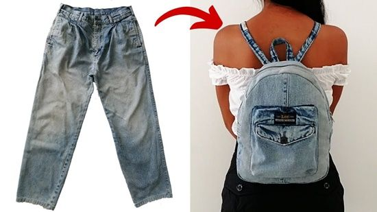 DIY Mochila reciclando unos Jeans