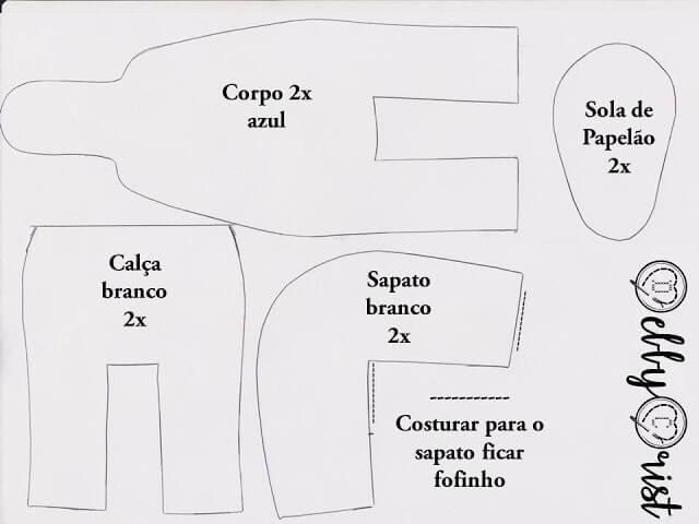 Muñeco Pitufo de fieltro con moldes gratis (1)