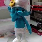 Muñeco Pitufo de fieltro con moldes gratis