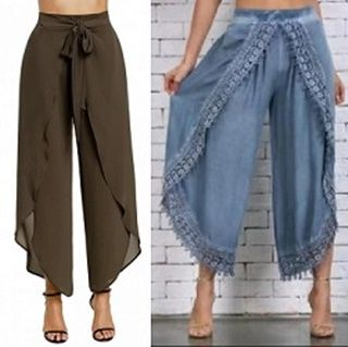 Pantalón estilo pareo para mujer