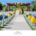 outdoor wedding. wedding in myrtle beach, marina inn wedding ceremony