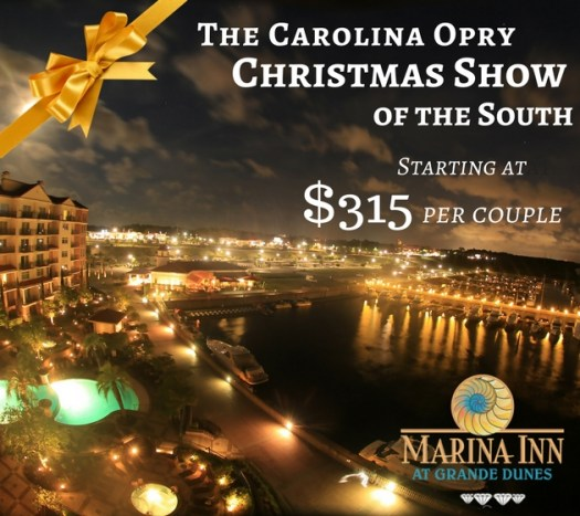 if you needed an extra reason to book your stay at marina inn at grande dunes there is a carolina opry christmas show package that includes