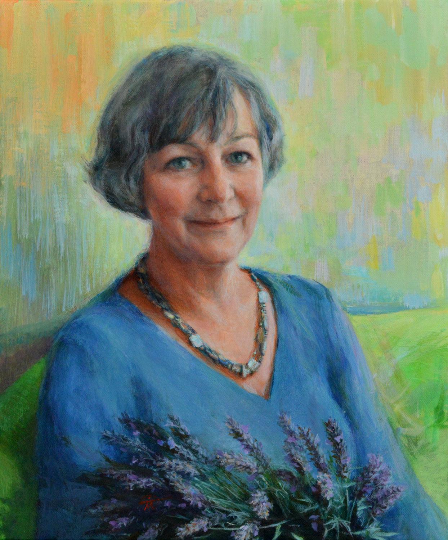 Portrait of Madeline Eve. in Rye Harbour. Portrait artist Marina Kim