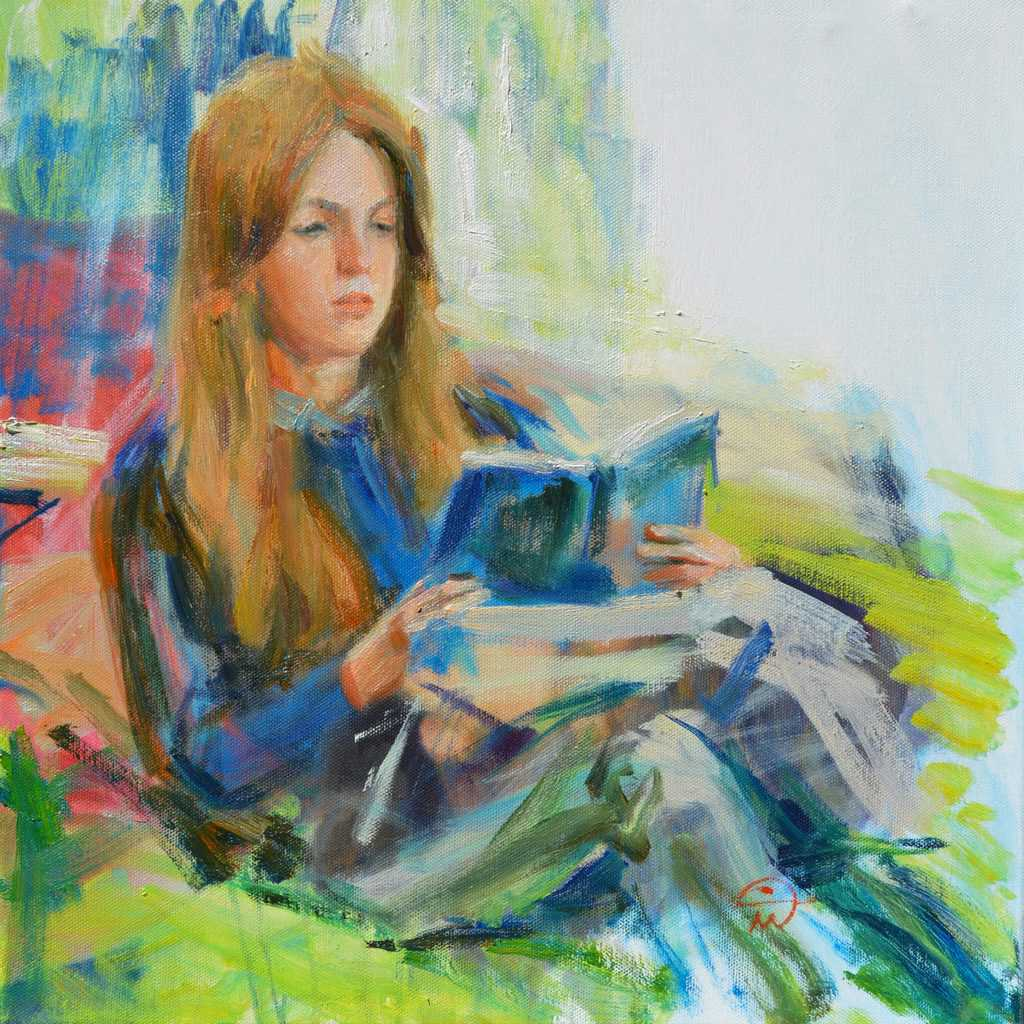Portrait of Nadya South. Study in oil on canvas