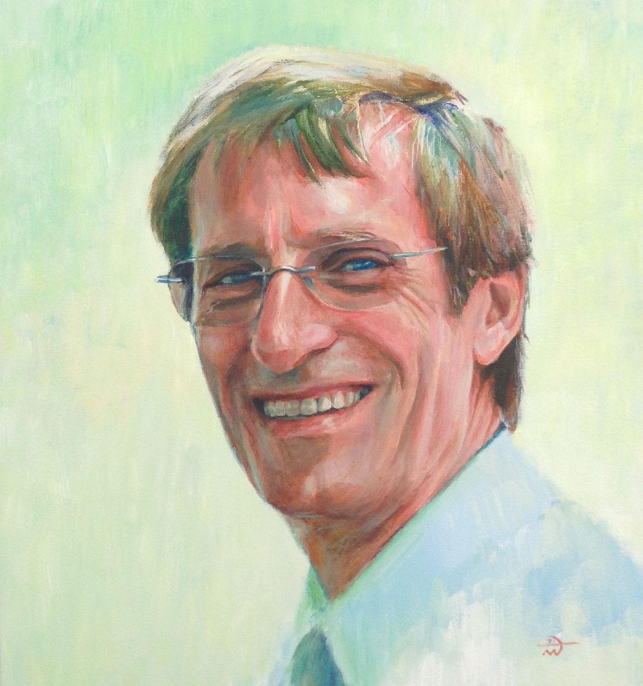 Portrait of Roger Eve. Portrait commission by artist Marina Kim