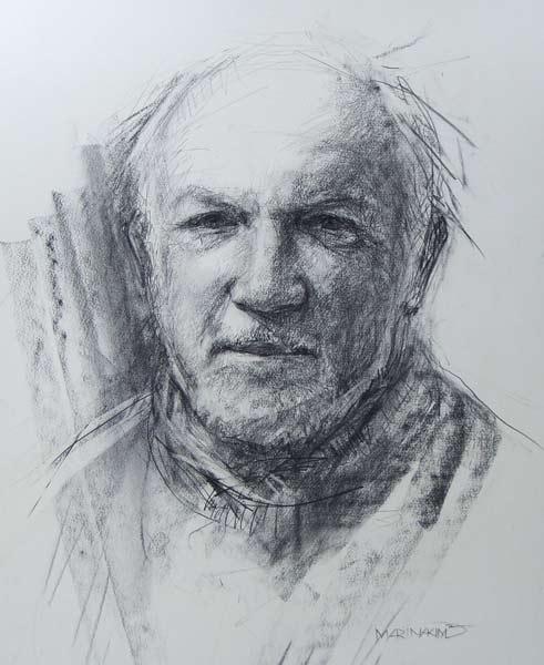 Portrait of John Izod. Commission portrait by Marina Kim
