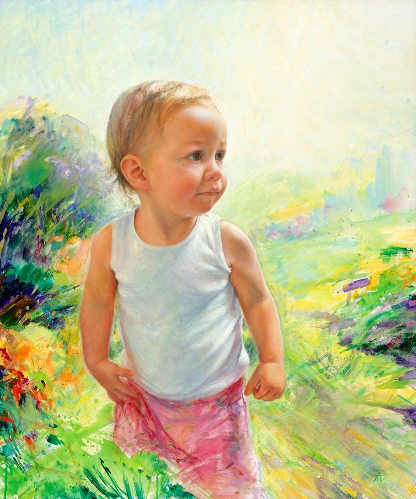 Portrait of Marnie. Commission portrait by Marina Kim
