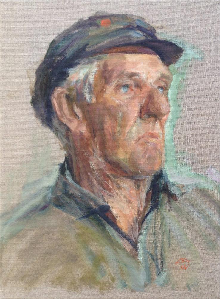 Portrait of Jimper Sutton. Portrait commission by artist Marina Kim