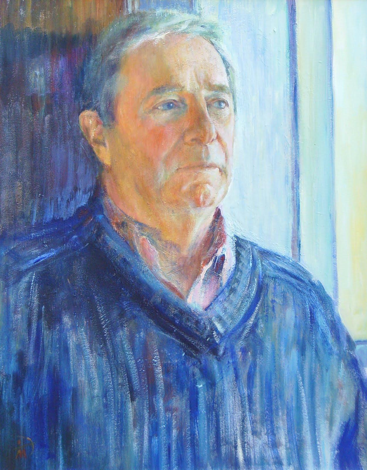 Portrait of John Gurney. Commission portrait by Marina Kim