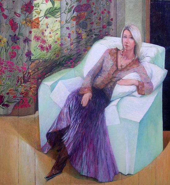 Portrait of Judith Herbert. Commission portrait by Marina Kim