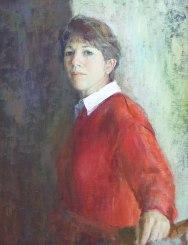 Portrait of Katie Gurney. Commission portrait by Marina Kim