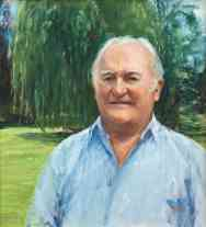 Portrait of Maitland Ford. Oil on canvas. Portrait commission by artist Marina Kim